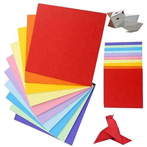 100 hojas de doble cara 20 colores vivos de papel de origami