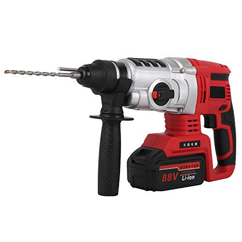 BIOHH 21V SDS Plus Rotary Brushless Cordles Hammer Drills,3 Modes Selector Electric Hammer Drill with Charger, 2 Batteries