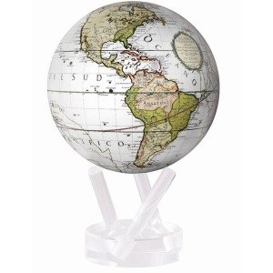 Mova El globo de terrestre 4.5 pulgadas Blanco