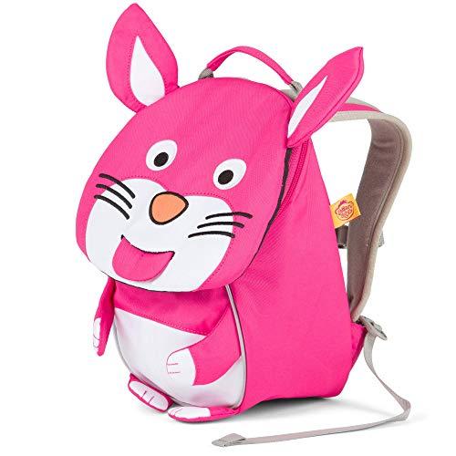 Affenzahn Kleiner Freund - Kindergartenrucksack für 1-3 Jährige Kinder im Kindergarten und Kinderrucksack für die Kita - Hase - Pink
