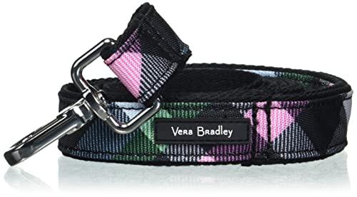Vera Bradley Damen Recycled Lighten Up Water-Repellent Pet Leash Haustierzubehör, Ribbons Plaid, Large