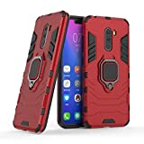 Cocomii Black Panther Ring Xiaomi Mi F1/Pocophone F1/Poco F1 Case, Slim Thin Matte Vertical & Horizontal Kickstand Ring Grip Bumper Cover Compatible with Xiaomi Mi F1/Pocophone F1/Poco F1 (Red)