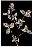 APAZSH Posters para Pared Vitral BotanicalⅣ Póster de Arte en Lienzo y Poster de Decoracion de impresión de Cuadros artísticas de Pared 60x90cm x1 Sin Marco