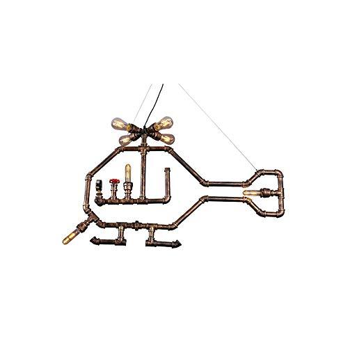 Chandelier de granja Tipo de botón ajustable y fijo Cadena colgante Chandelier Metal + Material de tubería de agua Ahorro de energía Equipo de iluminación de bombilla de ahorro de energía Adecuado for