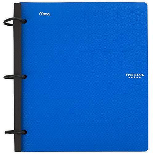 Five Star Flex Hybrid NoteBinder, 1 Inch Binder, Notebook and Binder All-in-One, Blue (29328AD2)