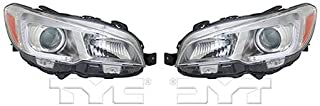 Fits 2015-2017 Subaru WRX Headlight Driver and Passenger Side DOT Certified Bulbs Included SU2502152 SU2503152 - Replaces 84001VA031, 84001VA021 ;Halogen
