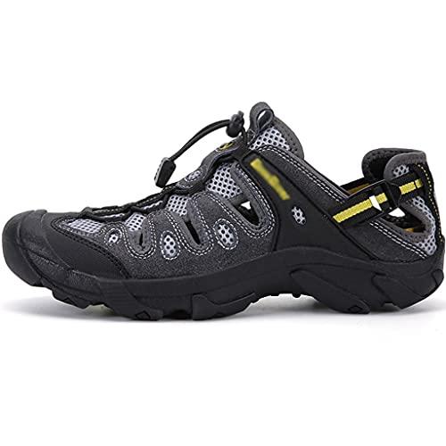 YUESFZ Zapatos De Agua De Interferencia Rápida para Hombres En Verano, Botas De Pesca Transpirables Antideslizantes, Zapatos Anfibios De Senderismo Al Aire Libre (Color : A, Size : US-6.5(Men))
