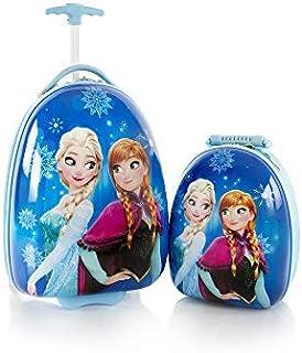 Disney Frozen Luggage and Backpack Set for Kids Egg Shape Anna Elsa Kids Luggage 2 Pc Set - 18 Inch