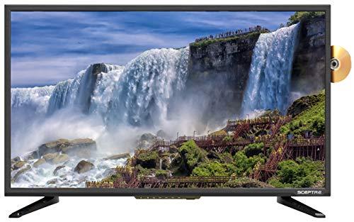 """Sceptre 32"""" 1080p FHD LED TV-DVD combo HDMI VGA USB MEMC 120, Machine Black"""