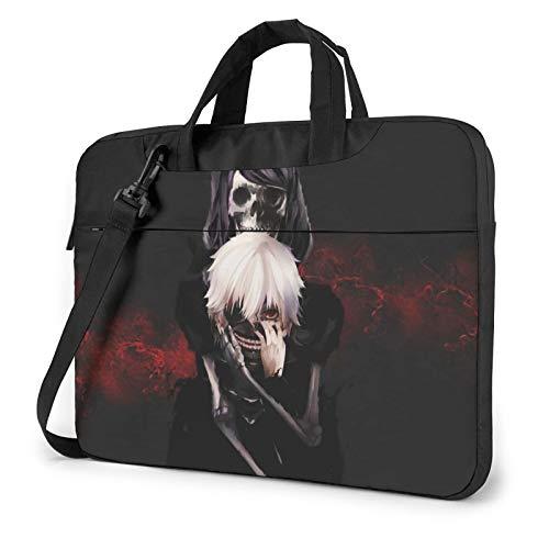 15.6 inch Laptop Sleeve Bag, Tokyo Ghoul Tablet Briefcase Ultra Portable Protective Shoulder Shockproof Laptop Canvas Cover Notebook