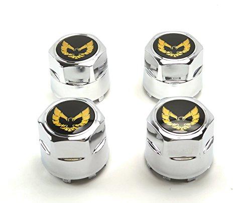 GM Restoration Set of 4 New 77-81 Pontiac Firebird Trans Am TA Snowflake Turbo Aluminum Wheel Chrome Center Caps Gold Bird