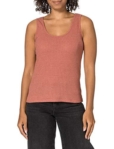 edc by ESPRIT Damen 041CC1K316 T-Shirt, 649/CORAL 5, S