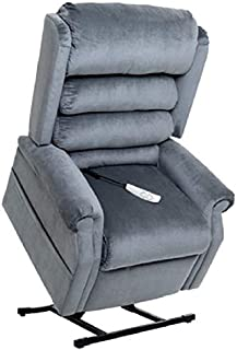 """MM-1950LT Tall Man Galaxy Mega Motion Power Lift Recliner Chair. (Steel Blue) Suggested User Height: 5'10"""" to 6'6"""". Weight Capacity 375 Lbs. Free Curbside Delivery"""
