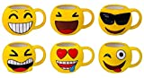 DISOK Lote 16 Tazas Emoticonos - Regalos de Comuniones Niños/Niñas - Tazas Emojis, Emoticonos para Niños, Infantiles,...