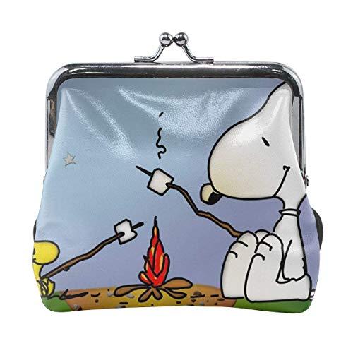 Monederos con Hebilla Snoopy Camping Pouch Kiss-Lock Monedero Monedero Carteras