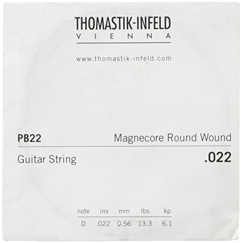 Thomastik-Infeld PB22 E-Gitarrensaiten: Power-Brights Magnecore Round Wound - Single D-Saite