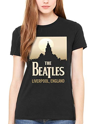 stone Women's The Beattles Liverpool England Women's T Shirt Abbey Road Crossing Camisetas y Tops(Small)