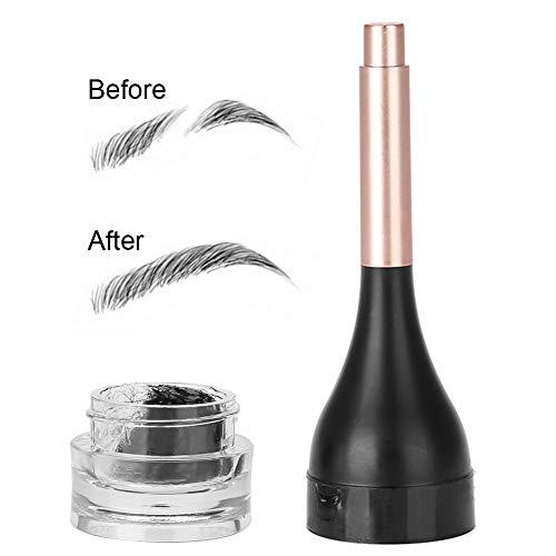 Semme Brow Building Fiber Gel, Gel d'extension 3D étanche pour Sourcils Recharge de Fibres précise Augmenter la quantité de Maquillage pour Les Cheveux des Sourcils(Black)