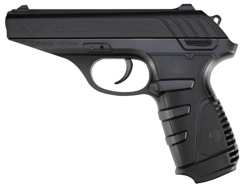 Gamo 611138054 P-25 Blowback CO2 Powered .177 Caliber Air Pistol,Black