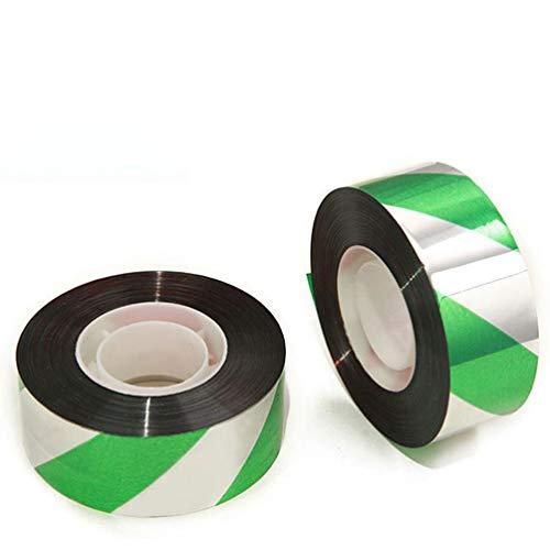 Hemoton 3 Stks Bird Scare Tape Reflecterende Vogel Afschrikband Tape Voor Duiven Grackles Spechten Ganzen Reigers Merels (Groen)