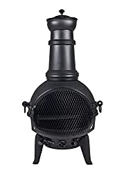 Oxford Leisure Black Cast Iron/Steel Mix Chimenea