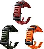 Chainfo Compatible con Suunto Ambit3 Peak/Ambit 2 / Ambit 1 Correa de Reloj, Banda de Reemplazo Silicona Suave Sports Pulsera (3-Pack I)