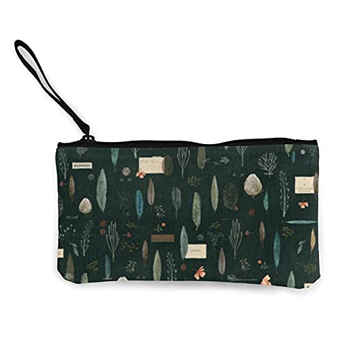 Portamonete in tela color smeraldo della foresta, portafogli con cerniera borsa per contanti, portapenne/custodia