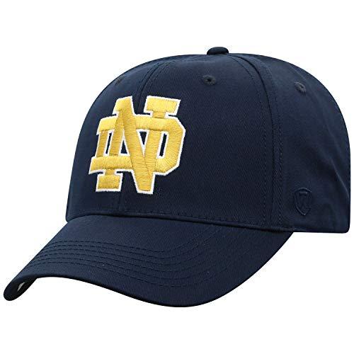 Top of the World Herren Mütze NCAA Fitted Team Icon, Herren, NCAA Men's Fitted Hat Relaxed Fit Team Icon, Notre Dame Fighting Irish Navy, Einstellbar
