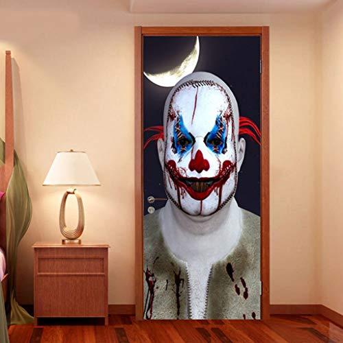 Glzcyoo Halloween 3D Deur Sticker, Zelfklevende Horror Ghost Nun Deur Behang Vinyl Verwijderbare Decals Voor Thuis Badkamer Kamer Party Decoratie Props, Halloween Decoraties