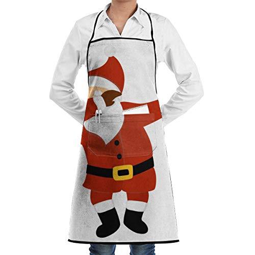 Pag Crane Grembiuli da Barbecue per Cuoco Babbo Natale con Tasche - Ottimo per Regali di Compleanno, Natale, Ringraziamento per la Tua Famiglia