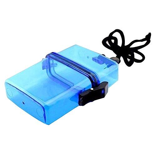 Sijueam Caja de almacenamiento impermeable bolsa seca con correa para auriculares papeles teclas de pilas pequeña Gadgets dinero Sealed Soporte Protección Para Outdor Sport Azul azul