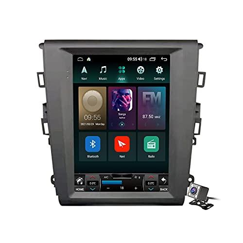 Buladala Android 11 Pantalla Vertical 9.7' Reproductor de automóvil Multimedia Navegación GPS para Ford Mondeo 5 2014-2019 Soporte FM Am RDS Autoradio Stéreo/Carplay Android Auto/SWC/Bluetooth,Ts5