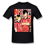 JuliaJOwens Haikyuu Kenma Sports Mans Tops Camiseta Manga Corta Negro