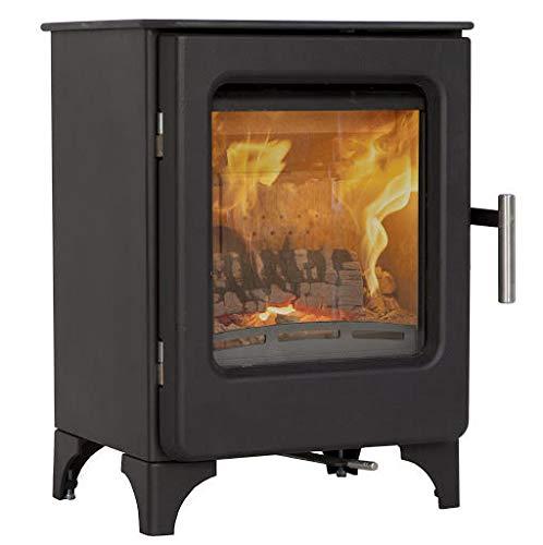 Mendip Ashcott Wood Burning Stove Glass Window 4.7kW Large Fire Eco & Defra