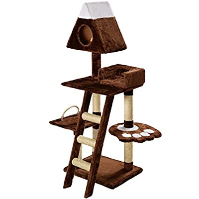 Mool Deluxe Cat Scratching Tree/Post Activity Centre with 2 Hidey-Holes and 4 Viewing Platforms, 130 cm