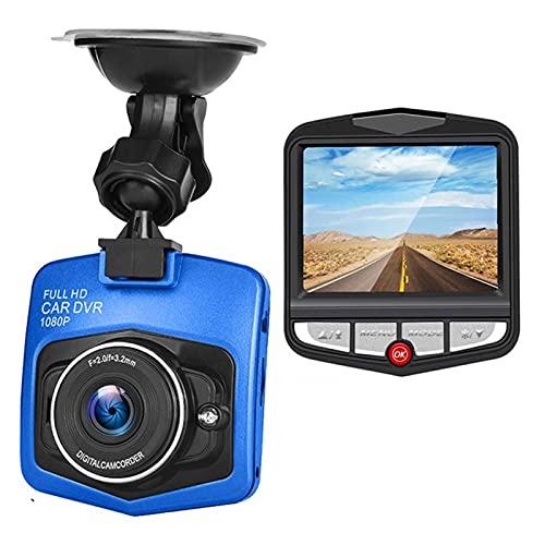 WJY Cámara de Coche, 2.4' Dash CAM Full HD 1080P HD Night Vision DVR para Automóvil con Gran Angular de 170°, Admite Visión Nocturna, Grabación En Bucle Y Detección de Movimiento (Color : Blue)
