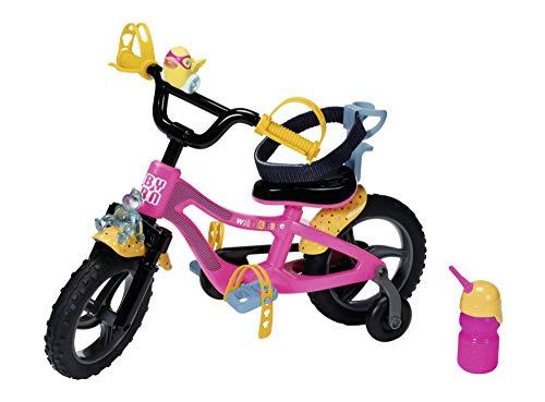 BABY born Fahrrad für 43cm Puppe - Mit Hupe, Licht & Schutzblechen - Leicht für kleine Hände, Kreatives Spiel fördert Empathie & Soziale Fähigkeiten, für Kleinkinder ab 3 Jahren