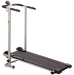 folding treadmill in folded position