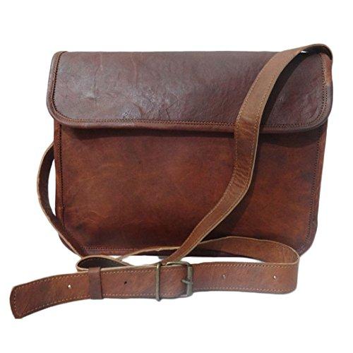Mad Over Shopping, Echtes Leder Vintage Tasche Crossbody Flap Schulter 13