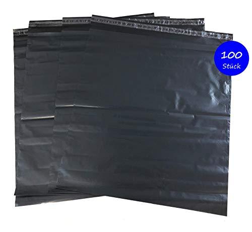 100St. Folienversandbeutel Versandbeutel Versandtasche 50x60cm, schwarz Extra Dick.