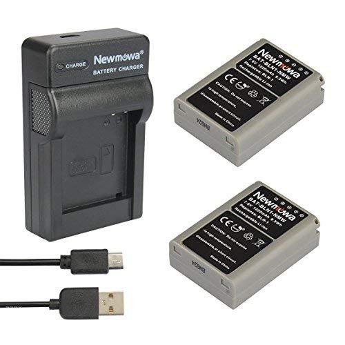 Newmowa® 2xBatería BLN-1 + Micro USB Cargador para Olympus BLN-1, BCN-1 and Olympus OM-D E-M1, OM-D E-M5, Pen E-P5,OM-D E-M5 II