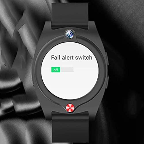 JXFF Reloj De Edad Avanzada, 4G, Reloj Inteligente De Salud G52, Ratón Cardíaco Y Reloj De Presión Arterial, Posicionamiento De GPS, Pulsera para Android iOS