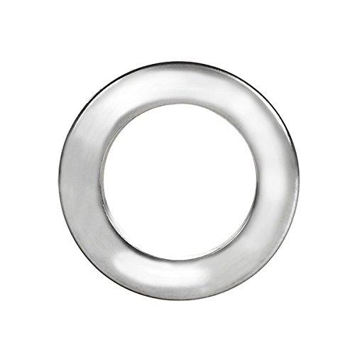Rufflette Jupiter Rings, Polyacrylic, Chrome, 36-Piece