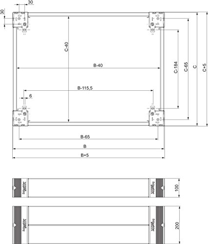 Schneider NSYSPF12100 Spacial SF/SM-Sockel-Frontteile, 100x1200mm