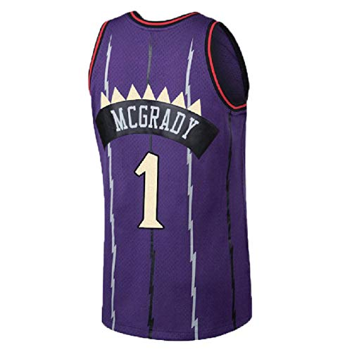 Mens Tracy Jersey Retro Basketball 1 Jerseys McGrady Jersey Blue(S-XXL) (XXL)