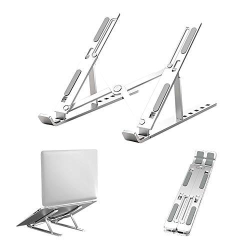 LG Snow Aluminio Plateado Soporte De Laptop Portátil Ventilado Ajustable De 6 Ángulos for Laptop De 10 Pulgadas Y 5.6 Pulgadas Soporte De Tableta Soporte De Escritorio Mesa Diseño Ergonómico