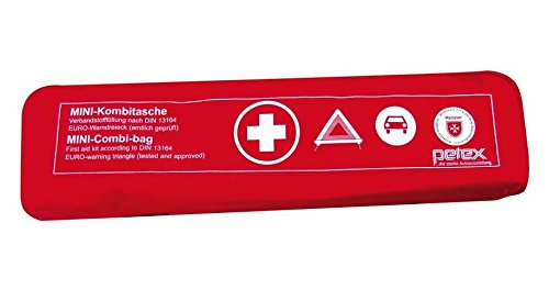 KFZ Trio Kombitasche 3 in 1 rot Verbandtasche Warndreieck Sicherheitsweste Verbandskasten