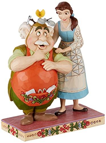 Disney Traditions, Figura de La Bella y La Bestia y Maurice, Para coleccionar, Enesco