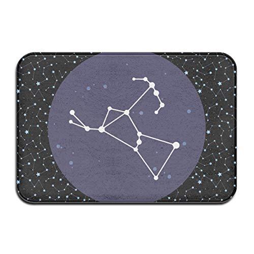yting Alfombras Antideslizantes Alfombrilla para el Piso con constelación de Orión Impreso para el baño del Pasillo, 40x60 cm