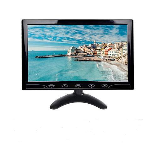 Monitor HD da 10.1 Pollici, Monitor per Videosorveglianza, Full HD Color 1024 * 600 Monitor IPS LED Monitor con HDMI/VGA/AV/USB Ports Input Car PC Monitor for Rear View, Home Security CCTV